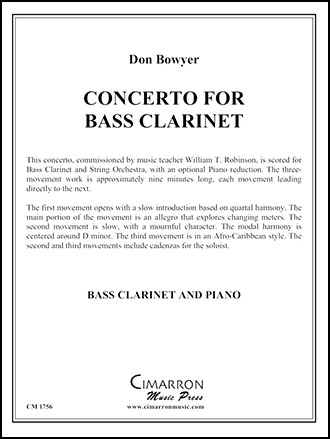 Concerto for Bass Clarinet