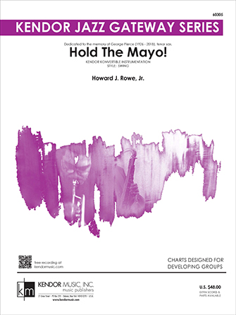 Hold the Mayo! jazz sheet music cover