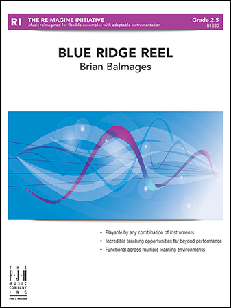 Blue Ridge Reel choral sheet music cover