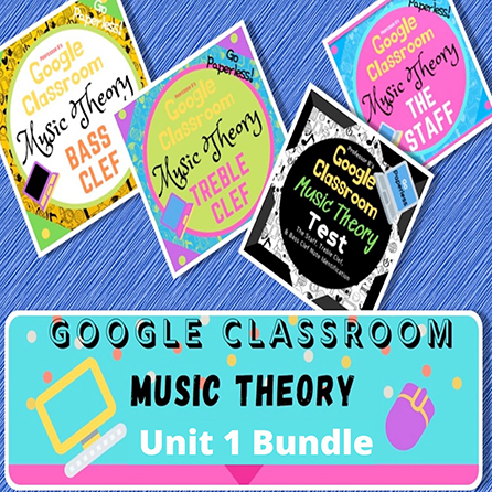 Music Theory Unit 1 Complete Bundle: Lessons 1-4