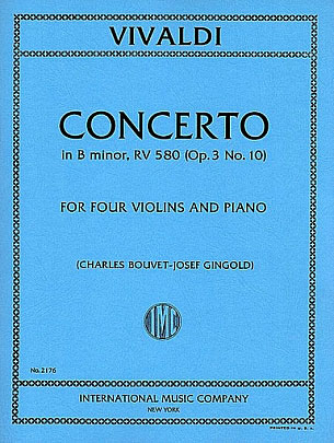 Concerto in B minor for Four Violins